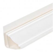 Плинтус ПВХ потолочный белый для панелей 10 мм, 3000 мм