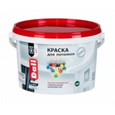 Краска акриловая DALI для потолков снежно-белая шелковистая 9 л