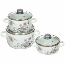 Набор эмалированной посуды Весенний романс